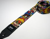 Popular video game characters handmade guitar strap - This is NOT a licensed product