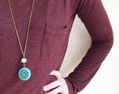 Gumption Locket Neckace.  Personalized Long Locket Necklace.
