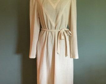 Vintage Kay Windsor Ivory dress, M/L
