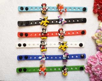 10 Mickey and Minnie Mouse's Friends Silicone Bracelets Party Favors