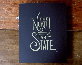 Silkscreen Poster - The North Star State