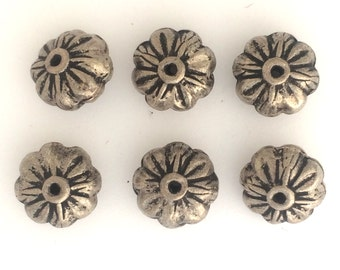 Antique silver plate rondels: 2563