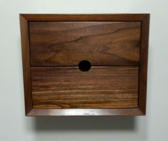 custom two drawer floating nightstand shelf wall box end table
