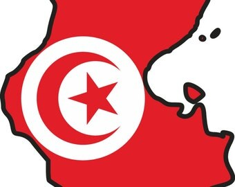 Tunisia Map Flag Silhouette Sticker for Laptop Book Fridge Guitar Motorcycle Helmet ToolBox Door PC Boat