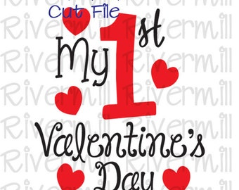 SVG DXF My First Valentine's Day Cut File