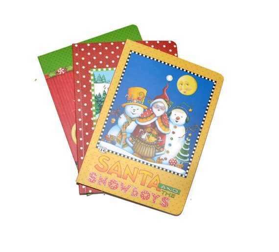 Holiday Assorted Blank Journals Set Of Three 5x7 Christmas