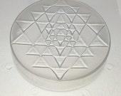 "Flexible Resin Mold Sacred Geometry Sri Yantra 2"" Diameter x 1/2"" Deep"