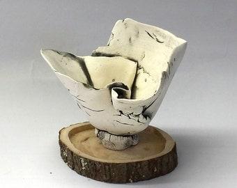 Ceramic Sculpture - Fossilized Bone Bowl | Fine Art