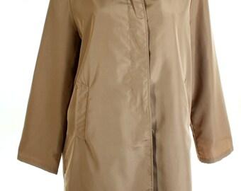 Vintage 90s Anne De Lancay Beige Brown Anorak Jacket UK 12 14 US 10 12