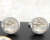 Cufflinks Eau Claire WI Handmade Cuff Links City State Maps Wisconsin Groomsmen Wedding Party Fathers Dads Men