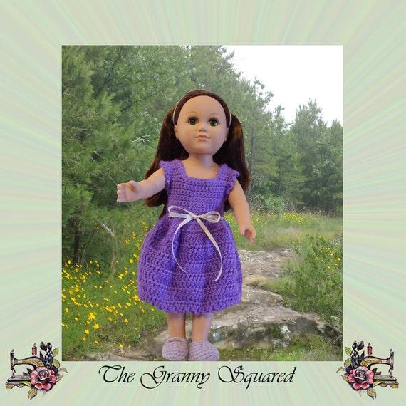 Crochet Dress Up Doll Pattern : Crochet Sundress Pattern for 18 Inch Dolls Sleeveless Doll