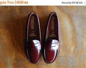SALE / vintage shoes / oxblood leather shoes / size 8