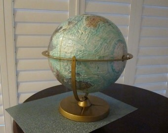 World OCEAN series Globe Topical Replogle 12 inch swivel world travel metal base