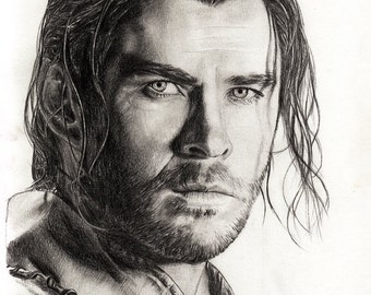 A4 Art Print Chris Hemsworth / The Huntsman