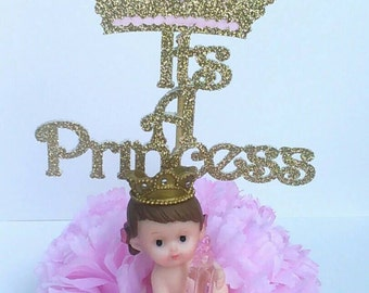 It's A Princess,baby girl, pink and gold,welcome little Princess,royal baby shower, princess baby shower