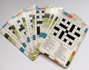 Set of 15 Game Cards Crosswords and Solutions KG07