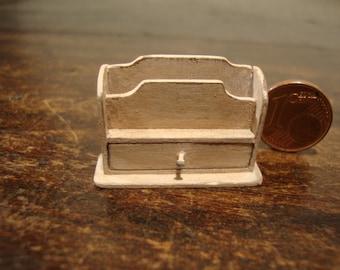 Miniature dollhouse wooden letter holder
