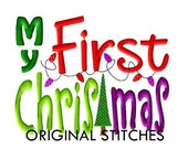My First Christmas Tree Machine Embroidery Digital Design File 4x4 5x7 Baby's First