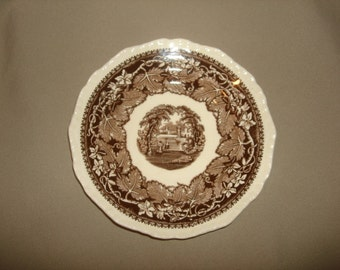 "Mason's Ironstone VISTA BROWN 5 3/4"" BREAD Plate 10 Available"