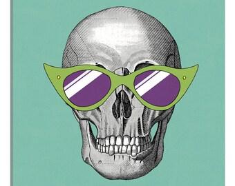 iCanvas Sunny Skull II Gallery Wrapped Canvas Art Print by Elyse DeNeige