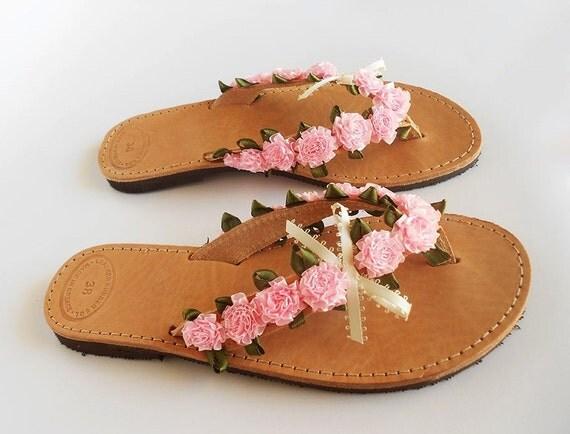 rosa flip flops rosa sandalen braut hochzeit flip flops. Black Bedroom Furniture Sets. Home Design Ideas