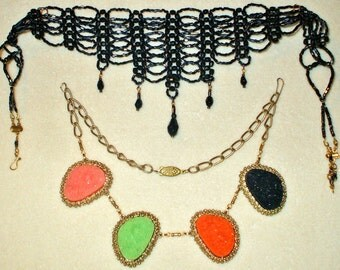 2 Vintage Bib/Choker necklaces