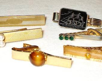 6 Vintage Tie Bars