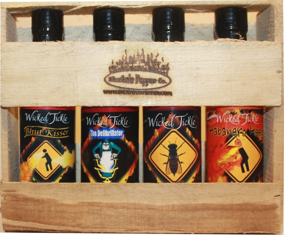 Ghost Pepper Habanero Hot Sauce Gift Set Package Deal Wicked