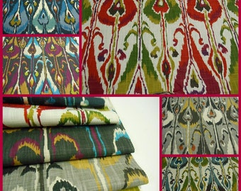 Robert Allen Fabric- Ikat Bands- pc 26inx26in