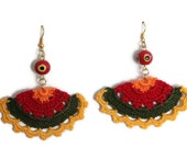 Crochet Earrings - Handmade Crochet Earrings