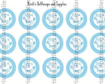 It's a Boy Bottlecap Digital Download