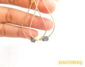 Titanium Quartz Chandelier Earrings, Hand hammered Wire Wrapped Quartz Nugget Earrings, Gemstone Dangle Earrings, Tear drop Quartz Earrings
