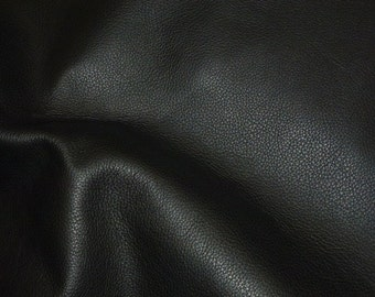 "Leather 12""x12"" Biker BLACK Top Grain Cowhide 3.5 oz / 1.4mm PeggySueAlso™ E2879-03 Hides avaiable"
