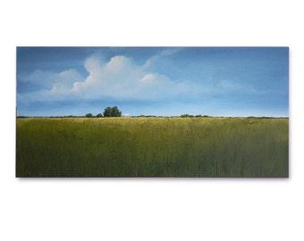 """Original Art, LARGE LANDSCAPE painting 24 X 48 """"Summer Begins"""""""