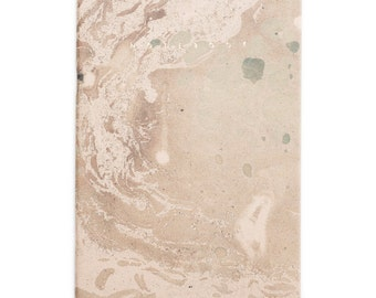 Marmoratus #3 green marbled gold notebook - pastel rose golden foil letterpress cover GLDR5002