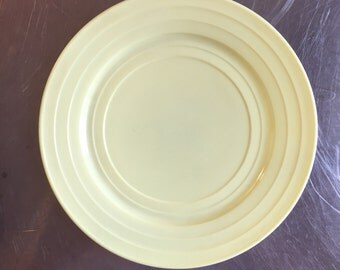 Platonite Yellow Dinner Plate, 9""