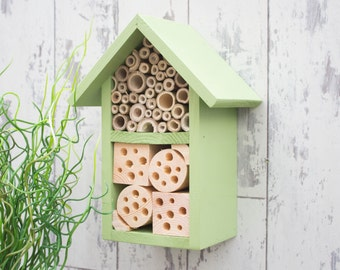 Wildlife House, Mason Bee Hotel, Insect Home, Bug Box, Two Tier, in 'Juicy Grape'. Can be personalised