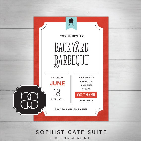 Printable Invitation Backyard Barbeque Invitation 010 1 By