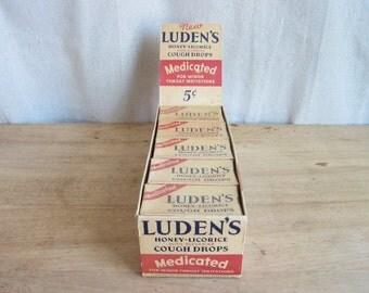 Vintage Advertising, Vintage Store Display Ludens Cough Drops
