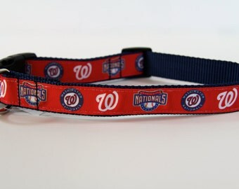 Washington National's inspired dog collar, Nat's collar, baseball dog collar, martingale collar, Pet accessory, Pet gift, Bozies Bags