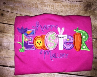Customized Easter Applique T-Shirt