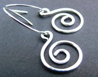 Spirals Earrings, Sterling Silver Earrings, Sterling Silver Spiral Earrings, Silver Coil Earrings, Celtic Spiral Earrings, Celtic Coils