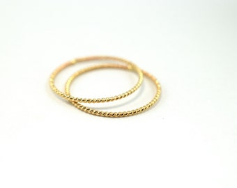 Gold Twist Stacking Ring