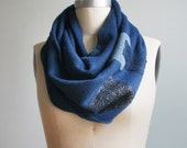 Patch infinity scarf- boiled wool