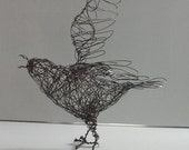 RESERVED - Wire Bird Sculpture SMALL DEFIANCE