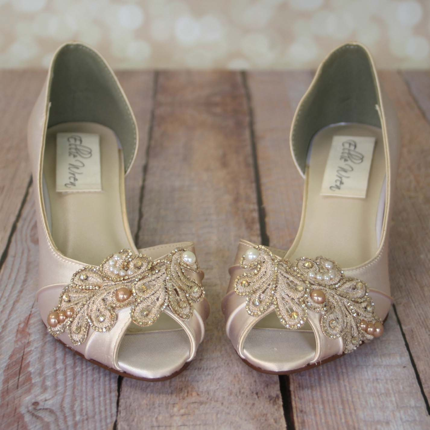 Ivory Wedding Shoes Champagne Wedding Shoes Ivory Bridal