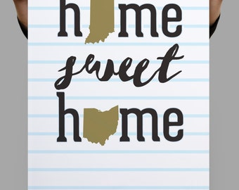Home Sweet Home Engagement Gift Home Sweet Home Print Couples Gifts Christmas