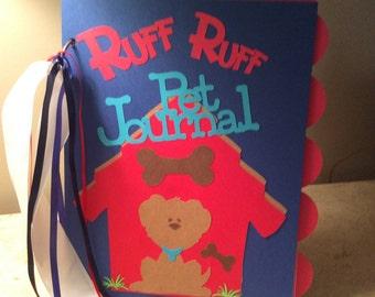 "Dog Pet Journal 8.5x11"""
