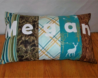 """Personalized Pillow Cover 14"""" x 20"""" Made to Order"""