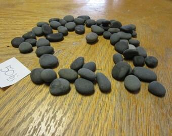 Lot of 50 Black Beach Stones Natural Mosaic Craft Supplies Rock Crafts
